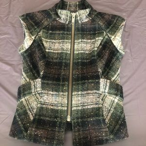 Green winter vest